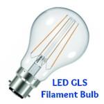 LED Filament Bulb B22 (BC) GLS