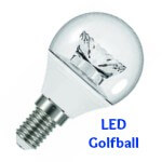 LED Golfball Bulbs BC, SBC, ES, SES
