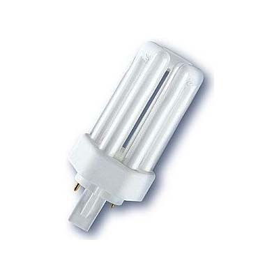 GE Biax T 2 pin fluorescent bulb with six sided base