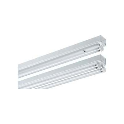 Single and twin strip lights with fluorescent tubes