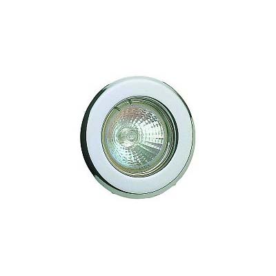 Scolmore round low voltage downlighter including lamp finished in chrome