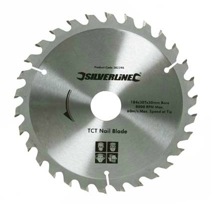 Silverline 184mm TCT Circular Saw Nail Blade.jpg