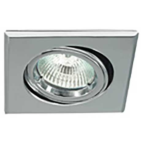 Ansell MR16 low voltage square die-cast aluminium adjustable downlight in polished chrome