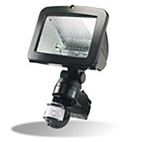 Timeguard 500W floodlight with PIR on adjustable wall bracket in black