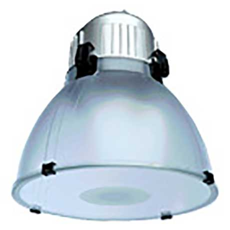 Ansell 23W architectural dome pendant with anti-glare glass cover and silver paint finish