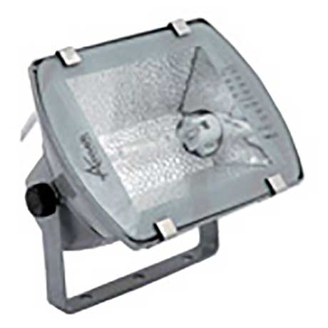 Ansell 70W architectural floodlight with tempered glass cover and hinged mounting bracket