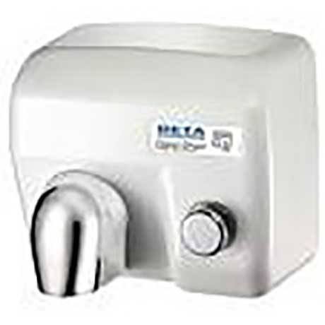 Deta hand dryer with manual push button operation in white