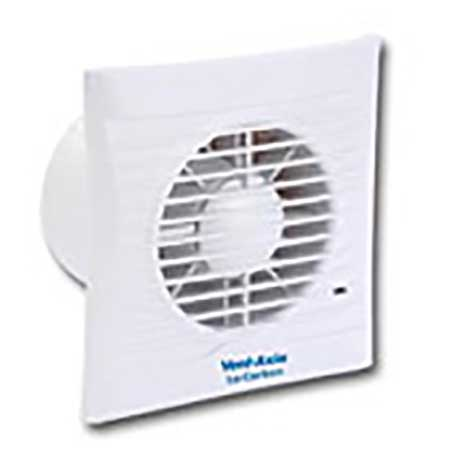 Vent Axia 4 inch bathroom wall fan finished in white